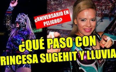 Princesa Sugehit y Lluvia quedan fuera del 87 Aniversario del CMLL