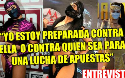 EXCLUSIVA: Entrevista con Lady Shani previa a la final de Lucha Fighter AAA