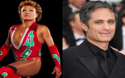 The first images of Gael Garcia as Legends of Lucha Libre's Cassandro el Exotico are released