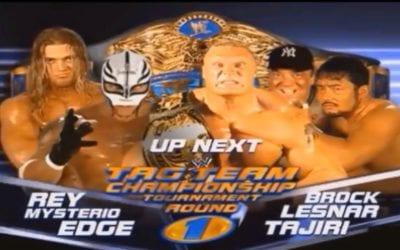 Match of the Day: Rey Mysterio & Edge Vs. Brock Lesnar & Tajiri (2002)