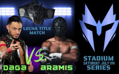 Aramis Vs. Daga for the Warrior Wrestling Lucha Championship at Stadium Series