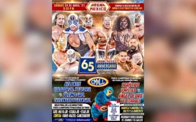 Cartelera y horarios para la función del 65 Aniversario de la Arena México
