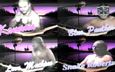 """Match of the Day: Konnan & Blue Panther Vs. Love Machine & Jake """"The Snake"""" Roberts (1993)"""
