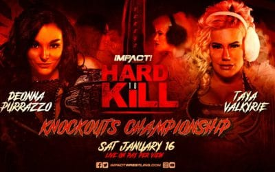 Taya will face Deonna Purrazzo for the IMPACT Wrestling Knockouts Championship at Hard To Kill