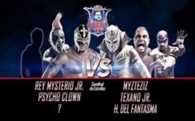 Match of the Day: Rey Mysterio, Psycho Clown & Garza Jr. Vs. Myzteziz, Hijo del Fantasma & Texano Jr. (2015)